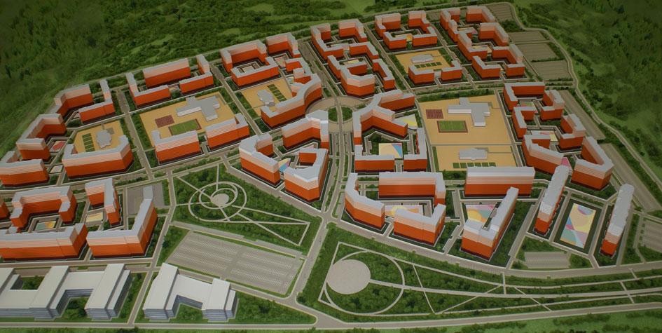 Проект застройки пригорода Тулы