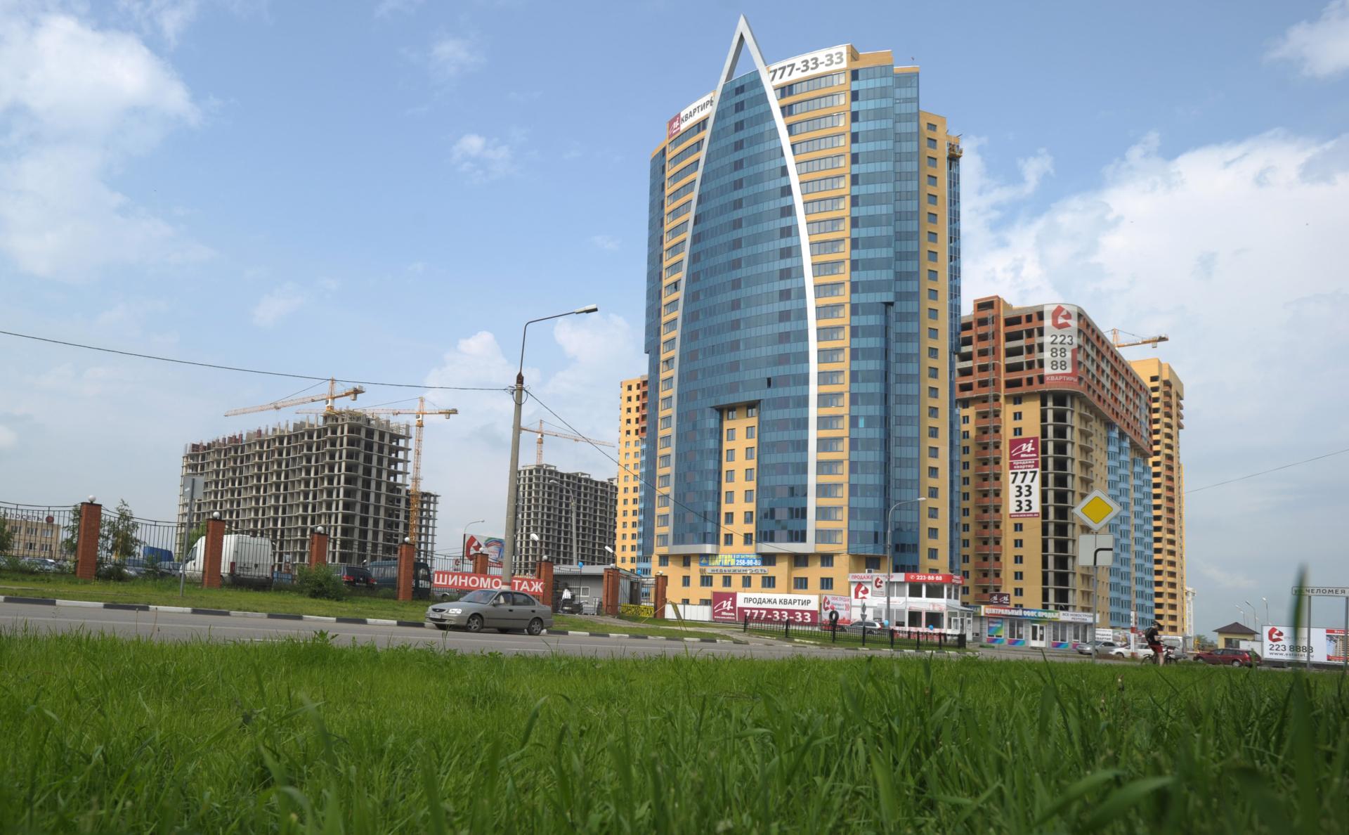 Строительство микрорайона «Новокосино-2» в Реутово в Московской областив 2012 году