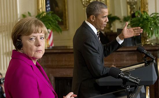 Канцлер Германии Ангела Меркель м президент США Барак Обама