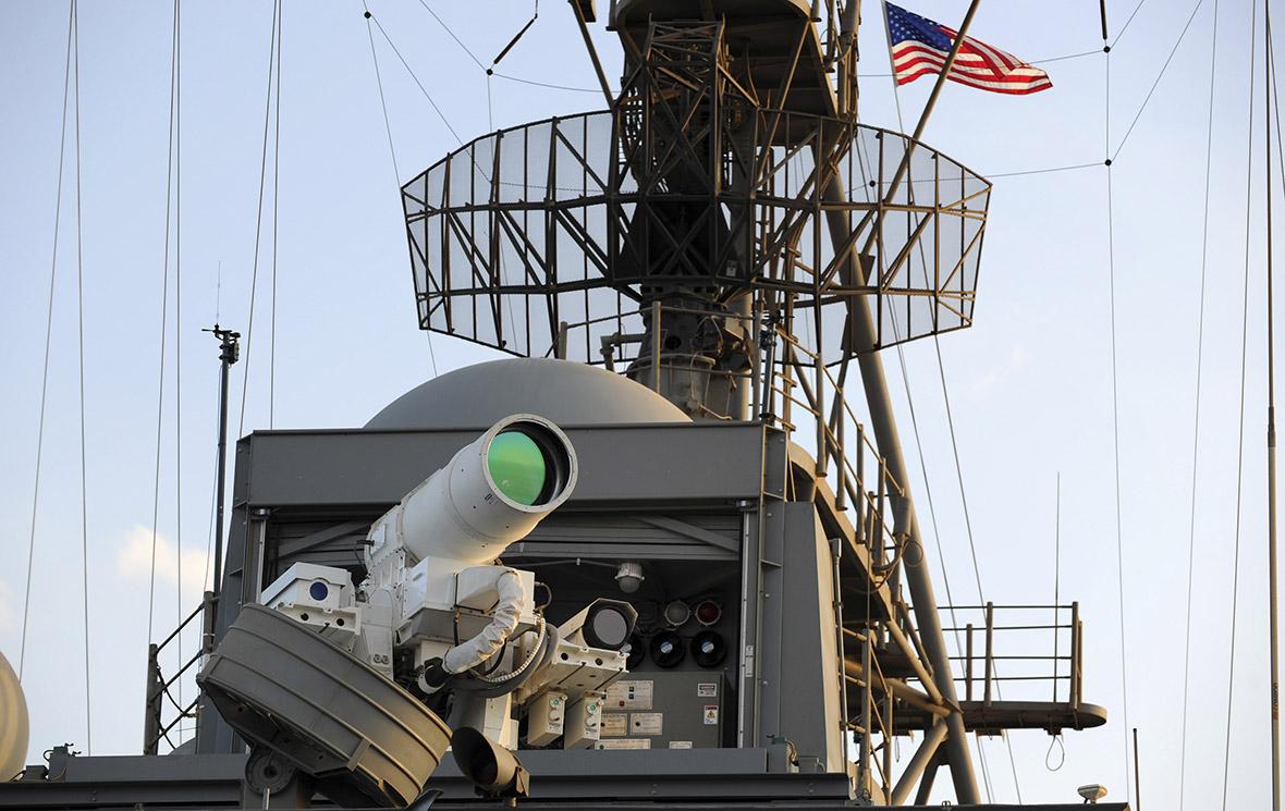 Лазерное оружие LaWSна корабле PonceВМС США