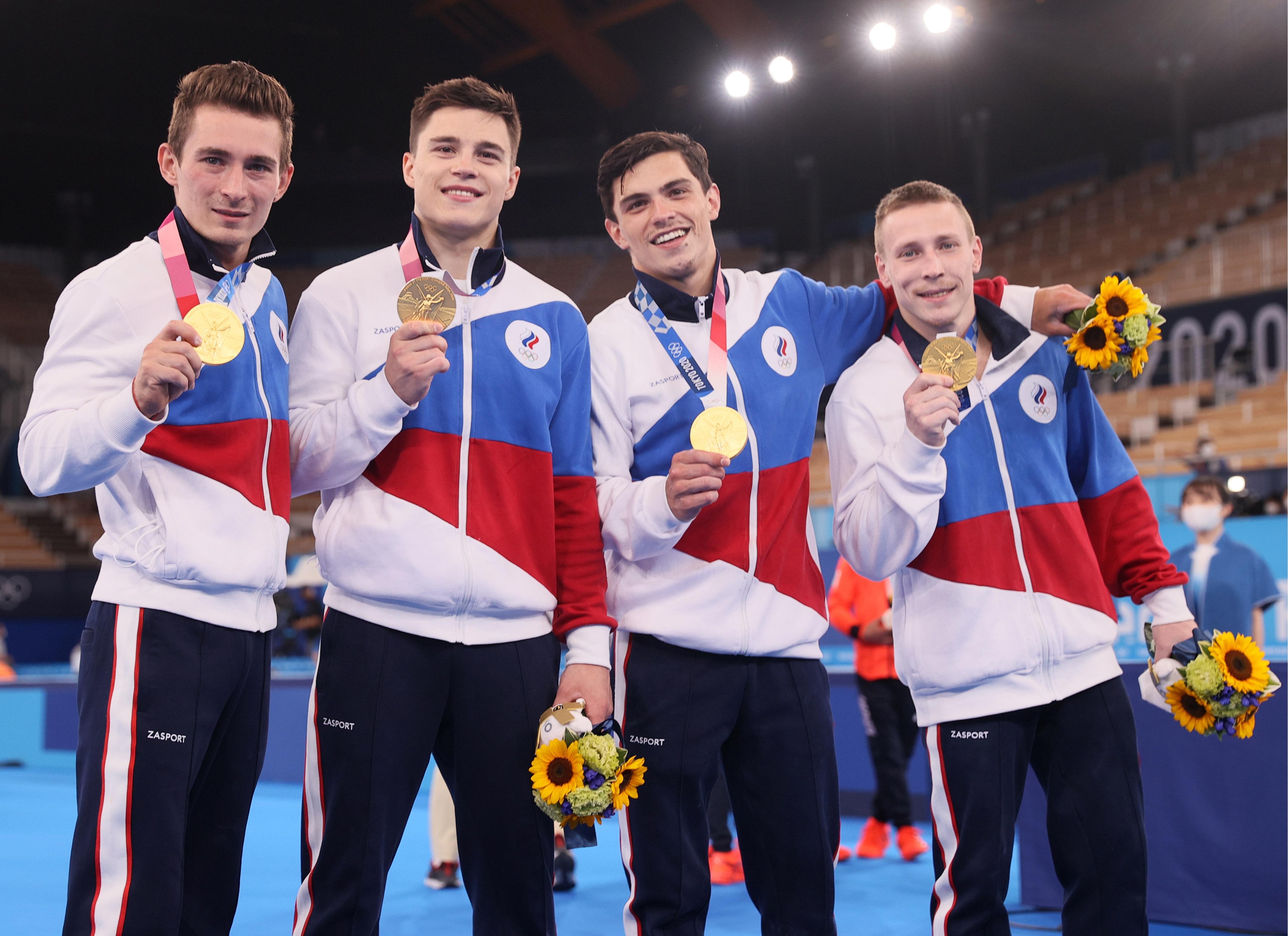 Фото:Слева направо: Давид Белявский, Никита Нагорный, Артур Далалоян и Денис Аблязин (Сергей Бобылев/ТАСС)