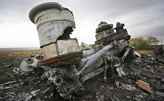 Обломкималайзийского Boeing 777