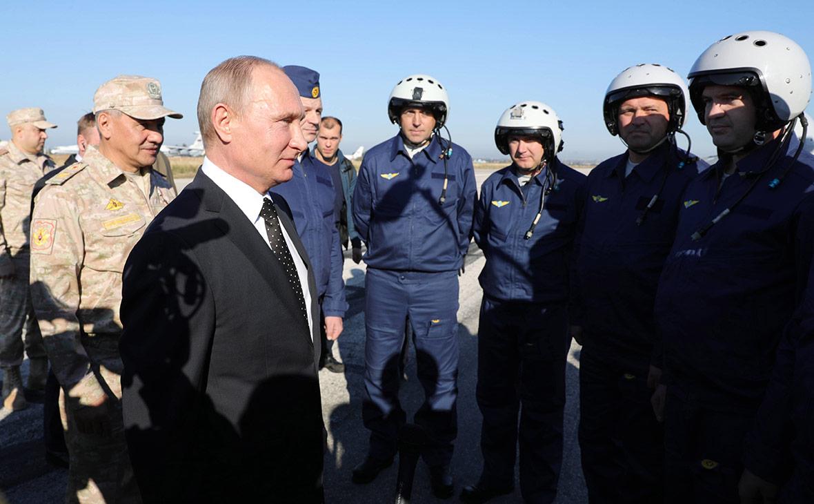Владимир Путин на авиабазе Хмеймим