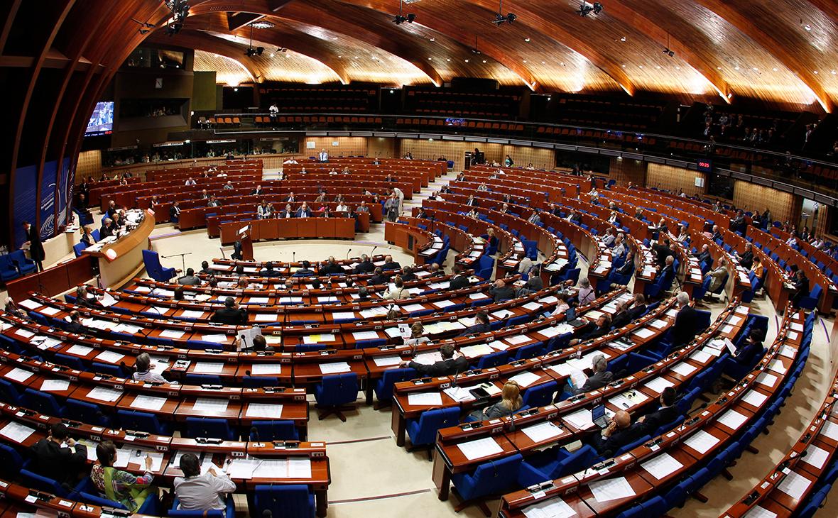 Зал пленарных заседаний Парламентской ассамблеи Совета Европы в Страсбурге
