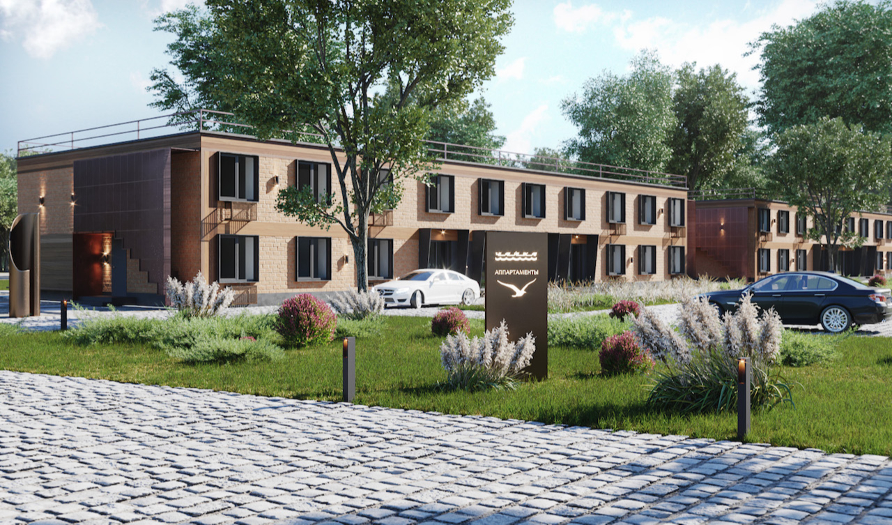 Реновация заброшенной базы отдыха в Новой Москве на берегу реки Десны, в 10 км от МКАД. Пустующийобъект реконструируют и превратят в комплекс апартаментов с благоустроенной территорией (рендер)