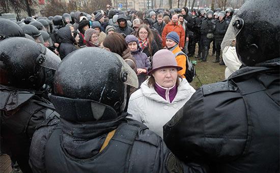 Участники акции в Санкт-Петербурге