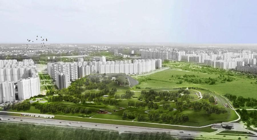 Проект ландшафтного парка на месте полигона Некрасовка