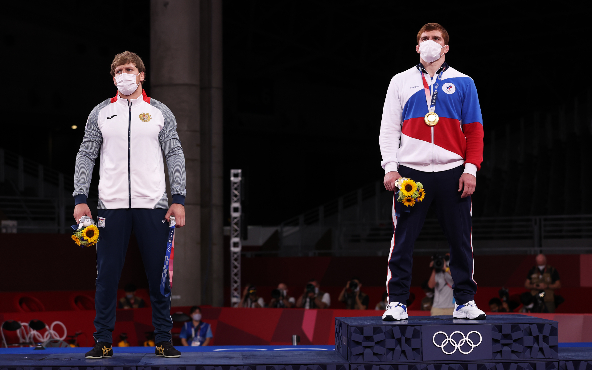 Фото: Артур Алексанян и Муса Евлоев (Tom Pennington/Getty Images)