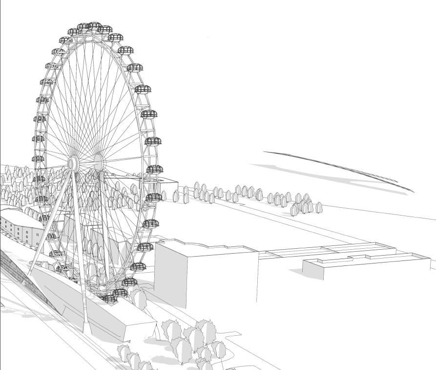 Визуализация рекордного колеса обозрения вСанкт-Петербурге