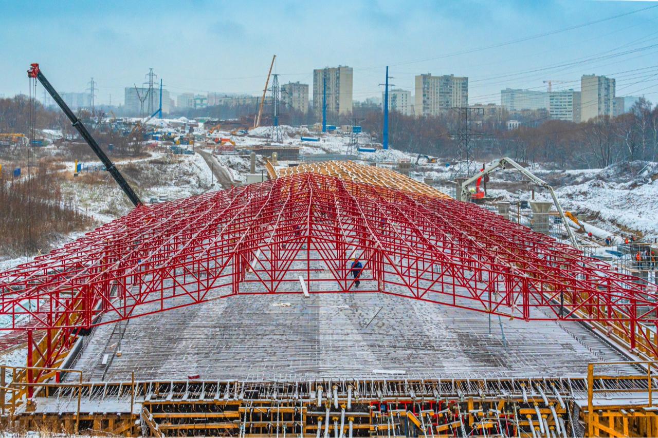 Строительство путепровода на восьмом участке ЮВХ