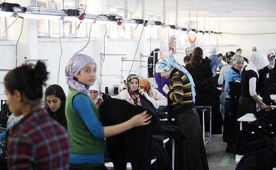 Текстильная фабрика в Турции