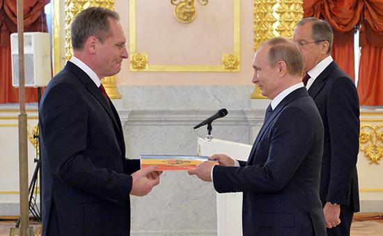 Дмитрий Брагиш и Владимир Путин