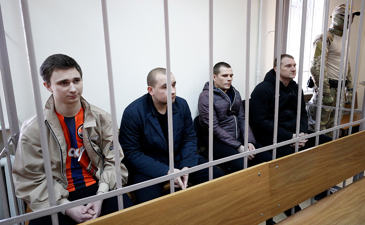 Задержанные украинские моряки