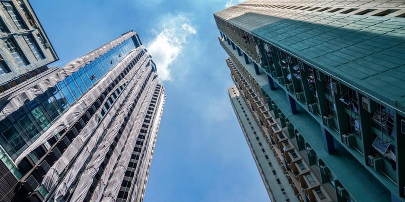 Недостроенный жилой комплекс Evergrande в Гонконге