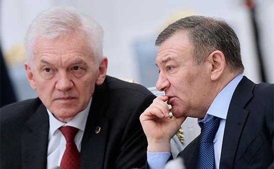Геннадий Тимченко иАркадий Ротенберг (слева направо)