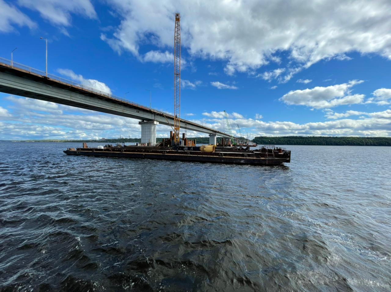 Власти сообщили о проценте готовности Чусовского моста