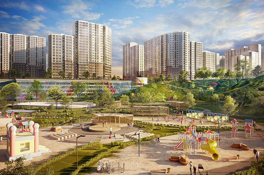 Вид на новый квартал в Котельниках