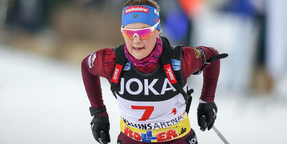Лидер женской сборной России по биатлону показала лучший за год результат