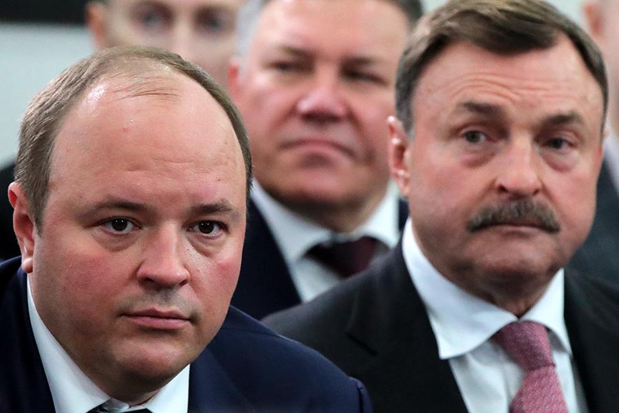 Слева направо: гендиректор «ФосАгро» Андрей Гурьев и зампред совета директоров «ФосАгро» Андрей Гурьев