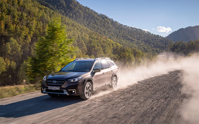 Стабилизация на автомобилях Subaru, не считая WRX и STI, уже давно не отключается до конца. А жаль, ведь на грунтовках Outback радует не только энергоемкой подвеской, но и классным поведением в скольжениях: мягко встает в занос и явно умеет в нем держаться. Но электроника обламывает кайф слишком рано.
