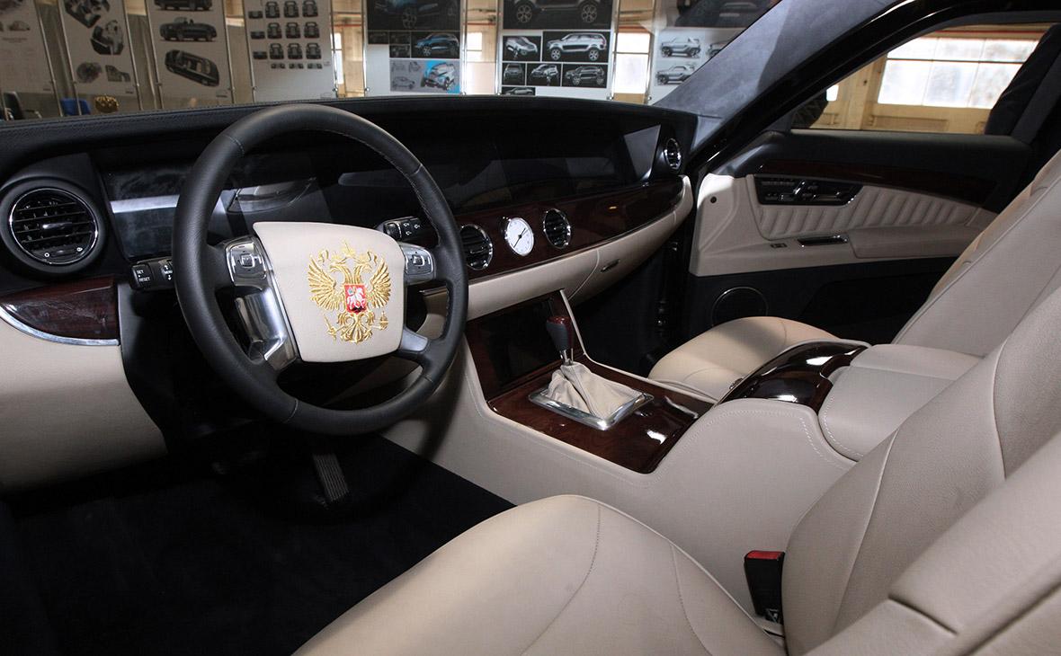 Салон макета автомобиля проекта «Кортеж»