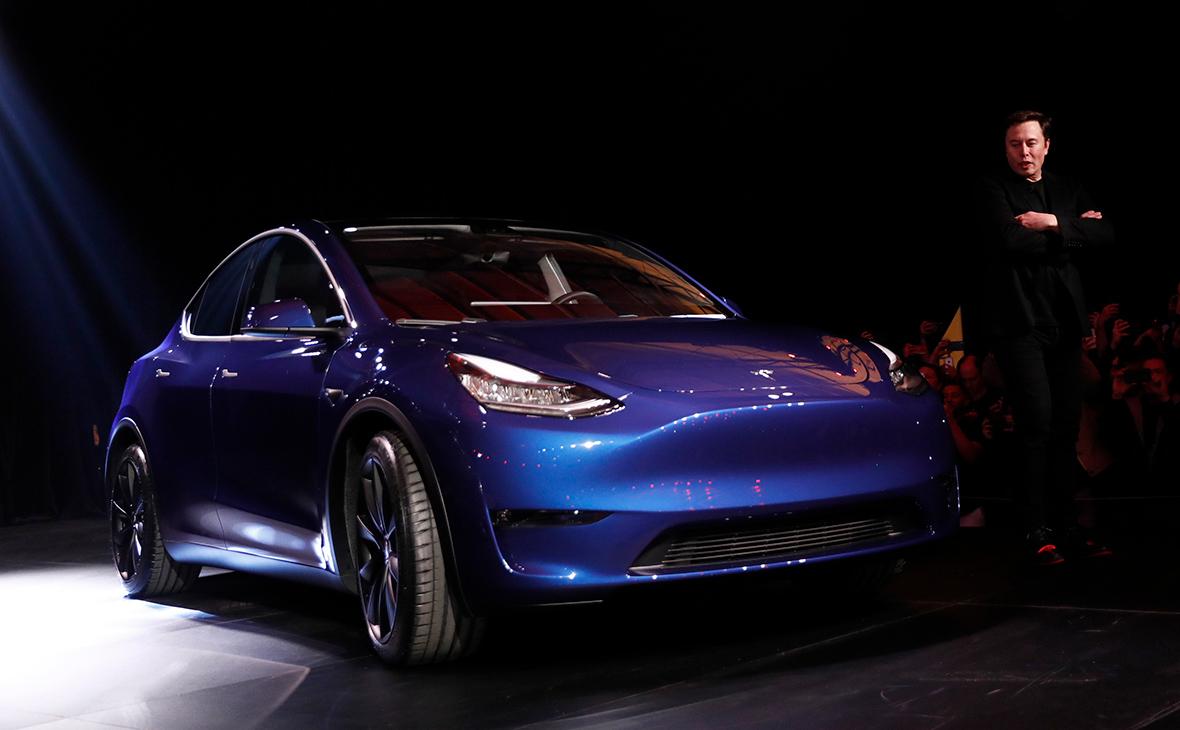 Илон Маск на презентации Tesla Model Y