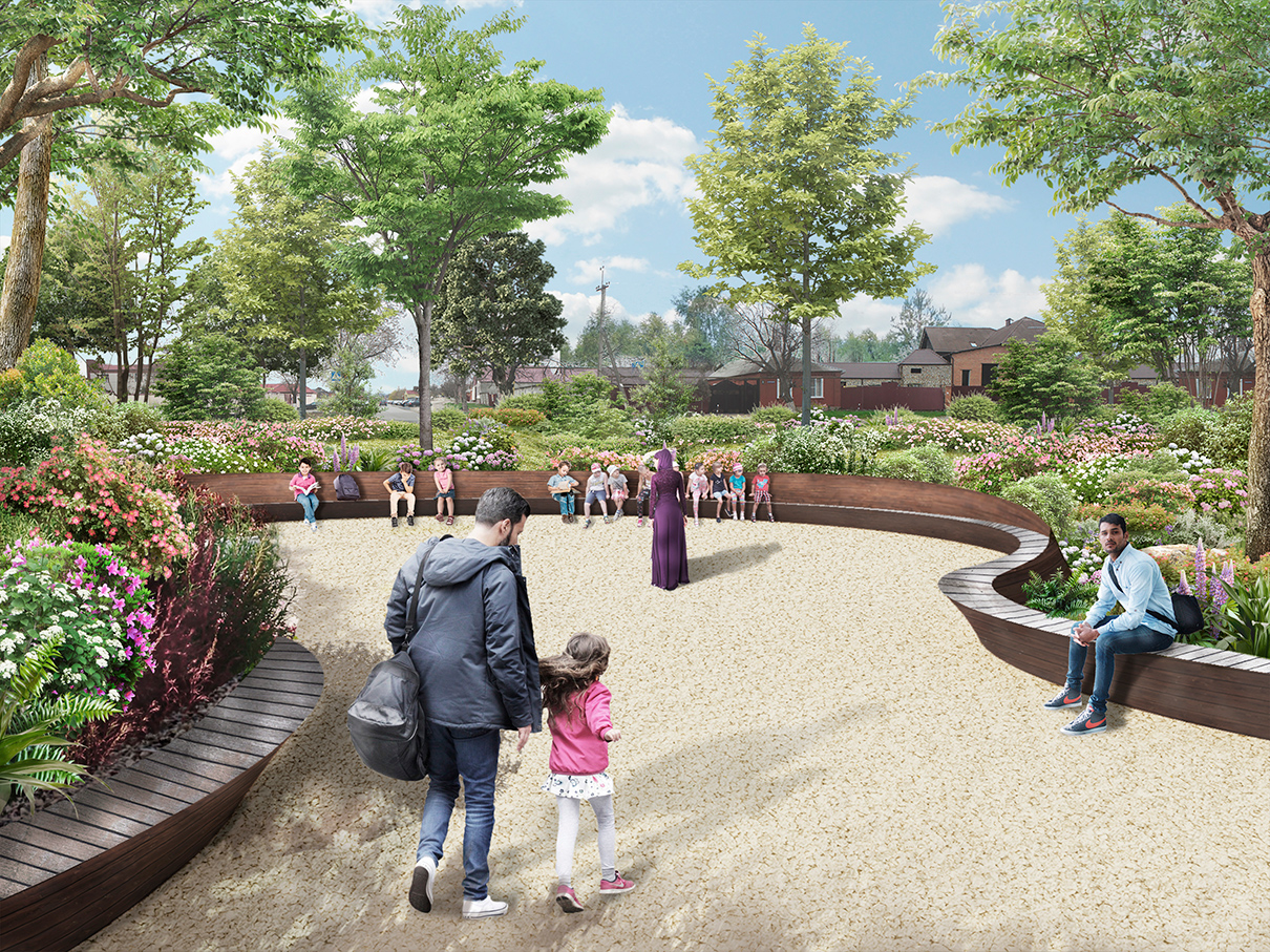 Проект благоустройства парка Хусейна бен Талала