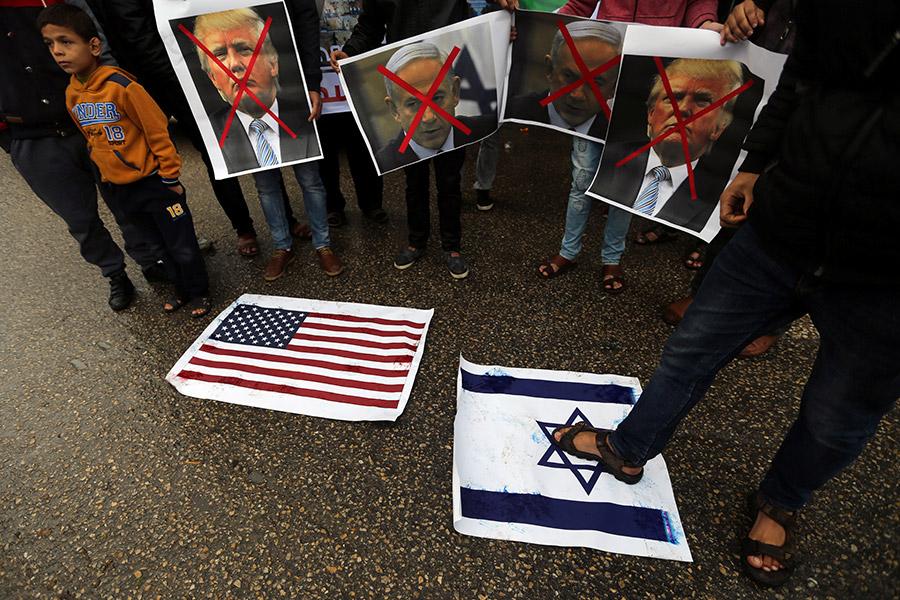 Акции протеста в городе Рафах, сектор Газа