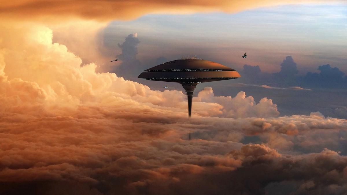 Воздушный дом в облаках Венеры