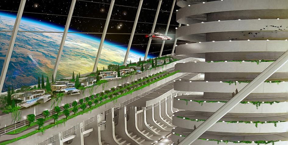 Началось создание космического города по проекту ученого из России