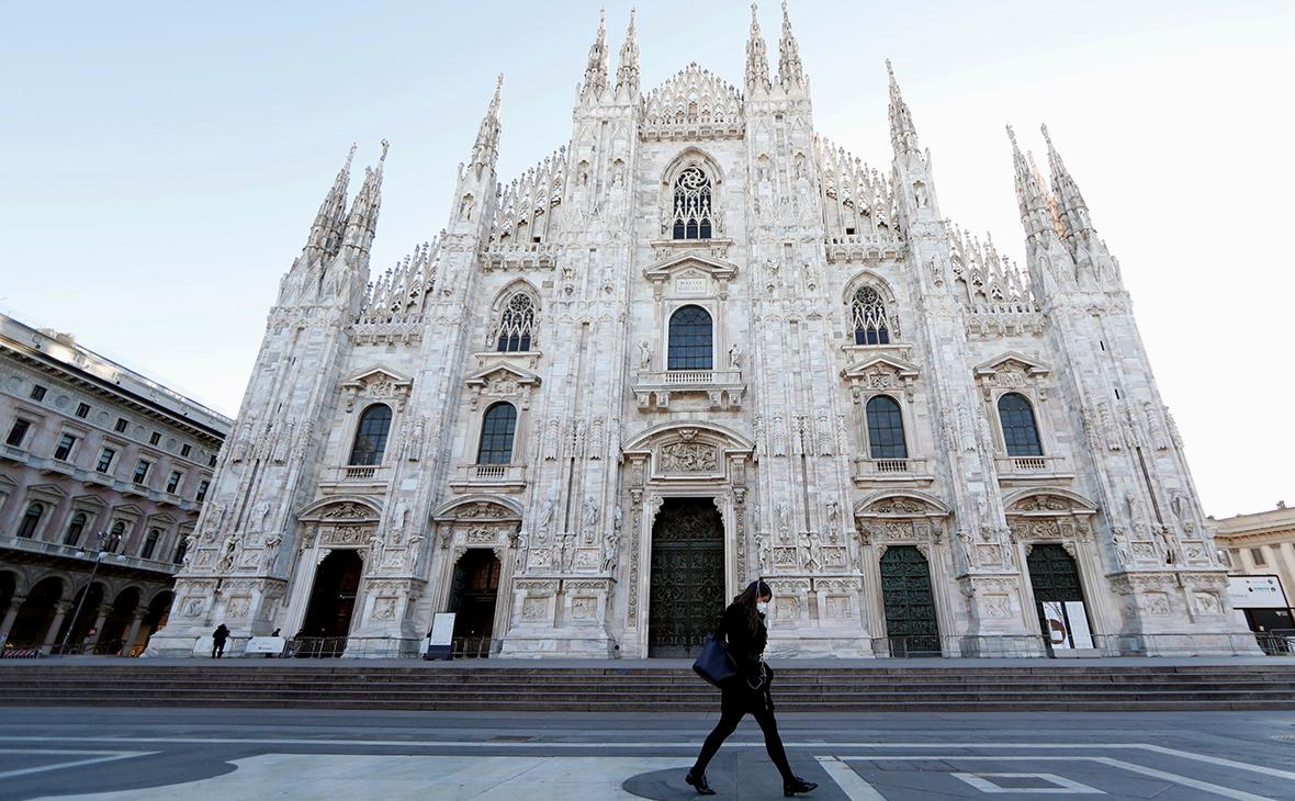 Вид Милана, Италия