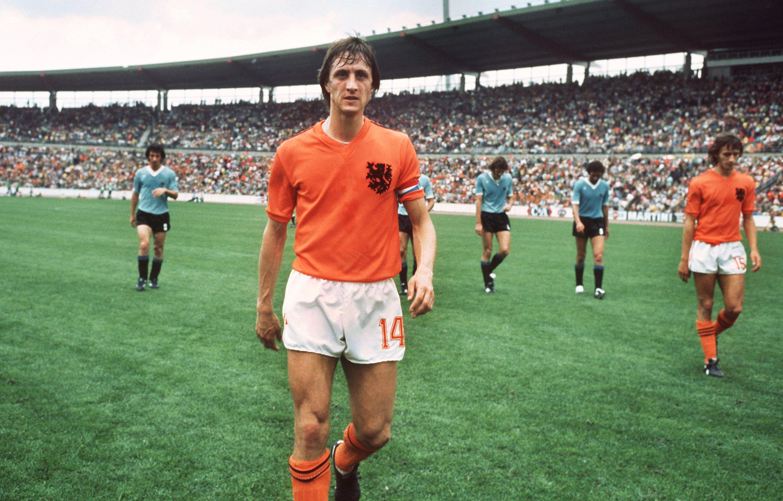 Капитан сборной Голландии на ЧМ-1974 Йохан Кройф