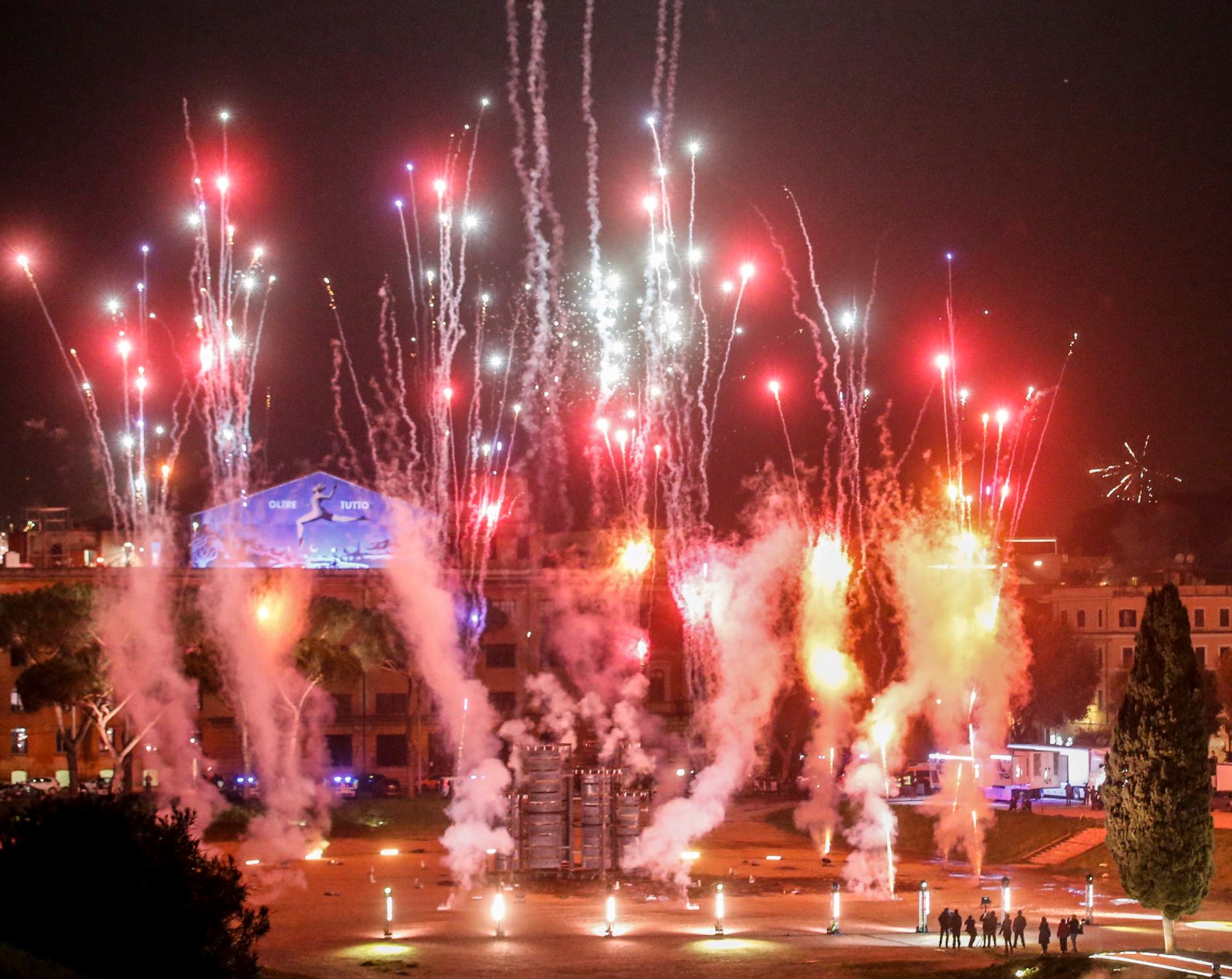 Празднование Нового года в Риме в условиях пандемии коронавируса