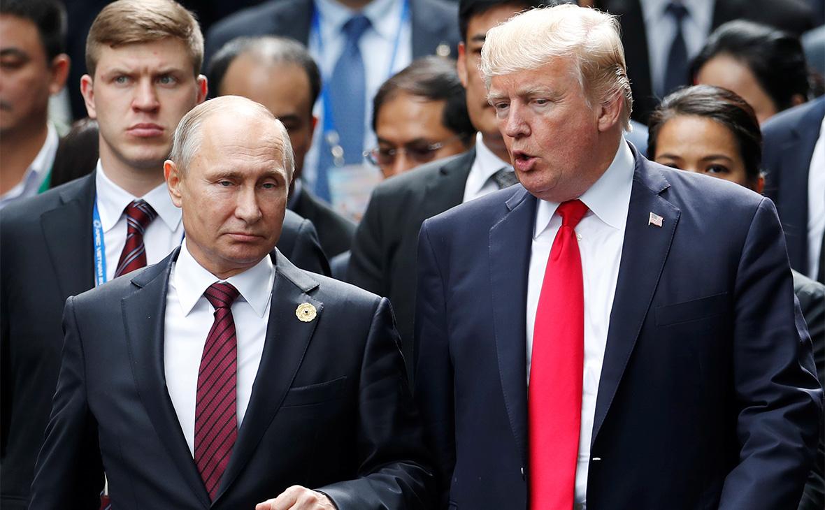 Владимир Путин и Дональд Трамп. 11.11.2017