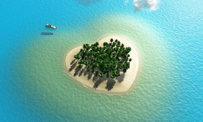 статистики, фото остров в виде сердца сомневаться своём