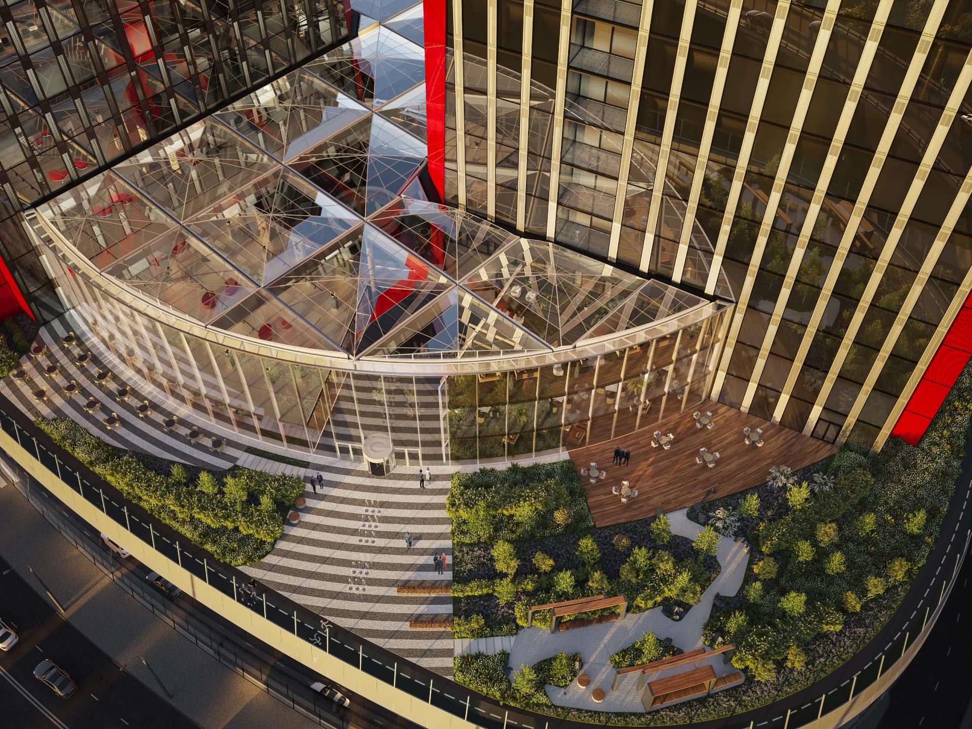 Архитектура бизнес-центра iCITY. Визуализация MR Group