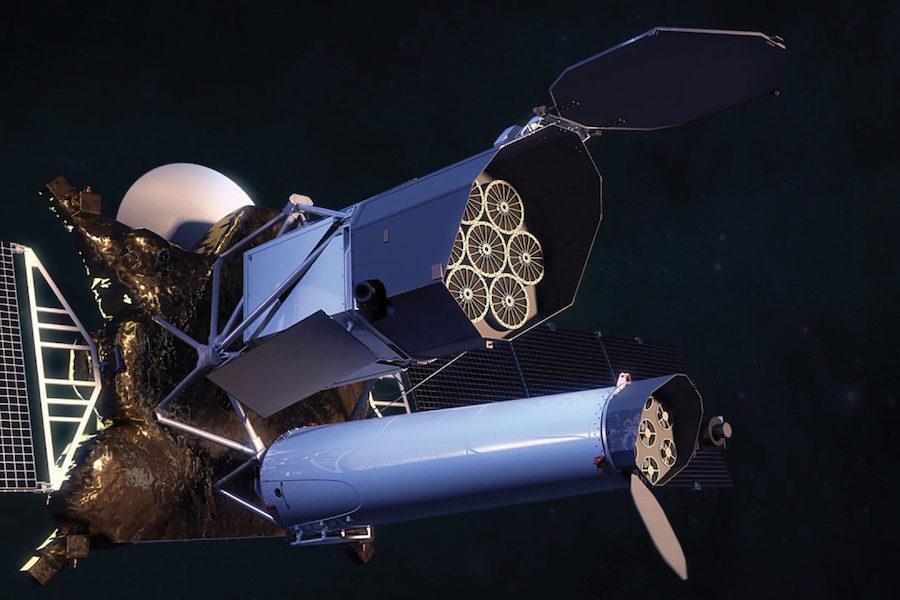 «Спектр-РГ» с телескопами ART-XC (снизу) и eROSITA (сверху)
