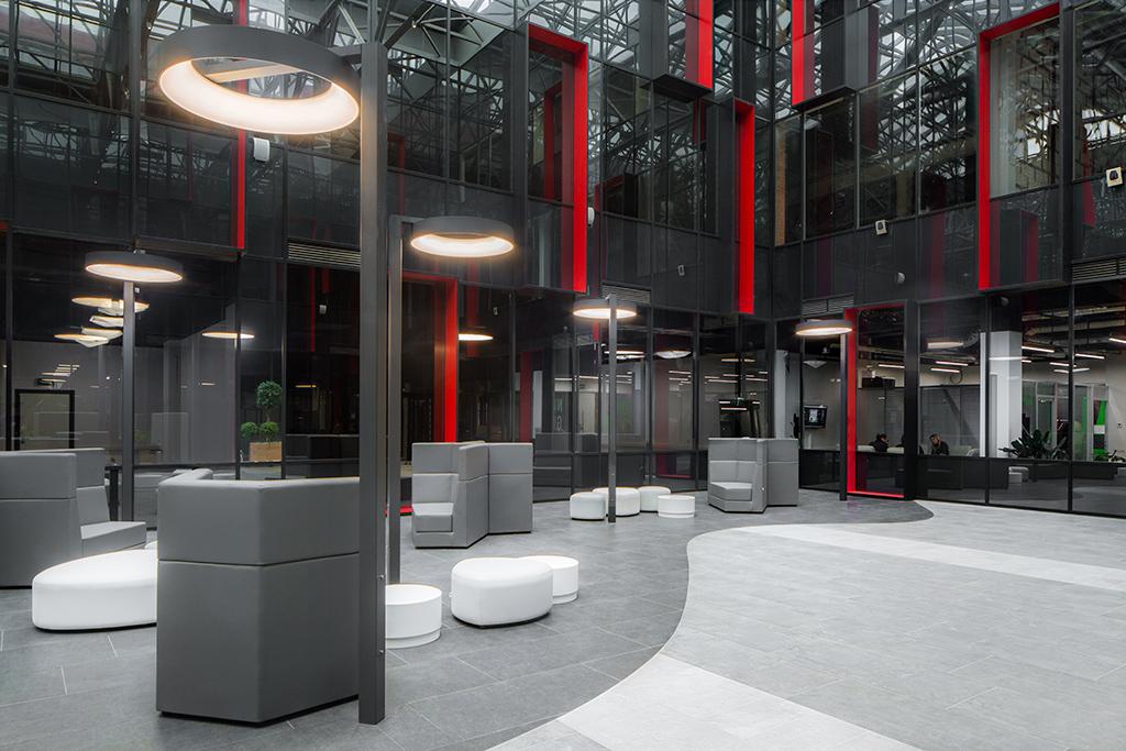 Интерьеры общественных зон бизнес-центра Neo Geo