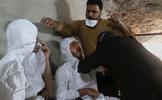 Город Хан-Шейхун посленанесения ударов сирийской авиацией