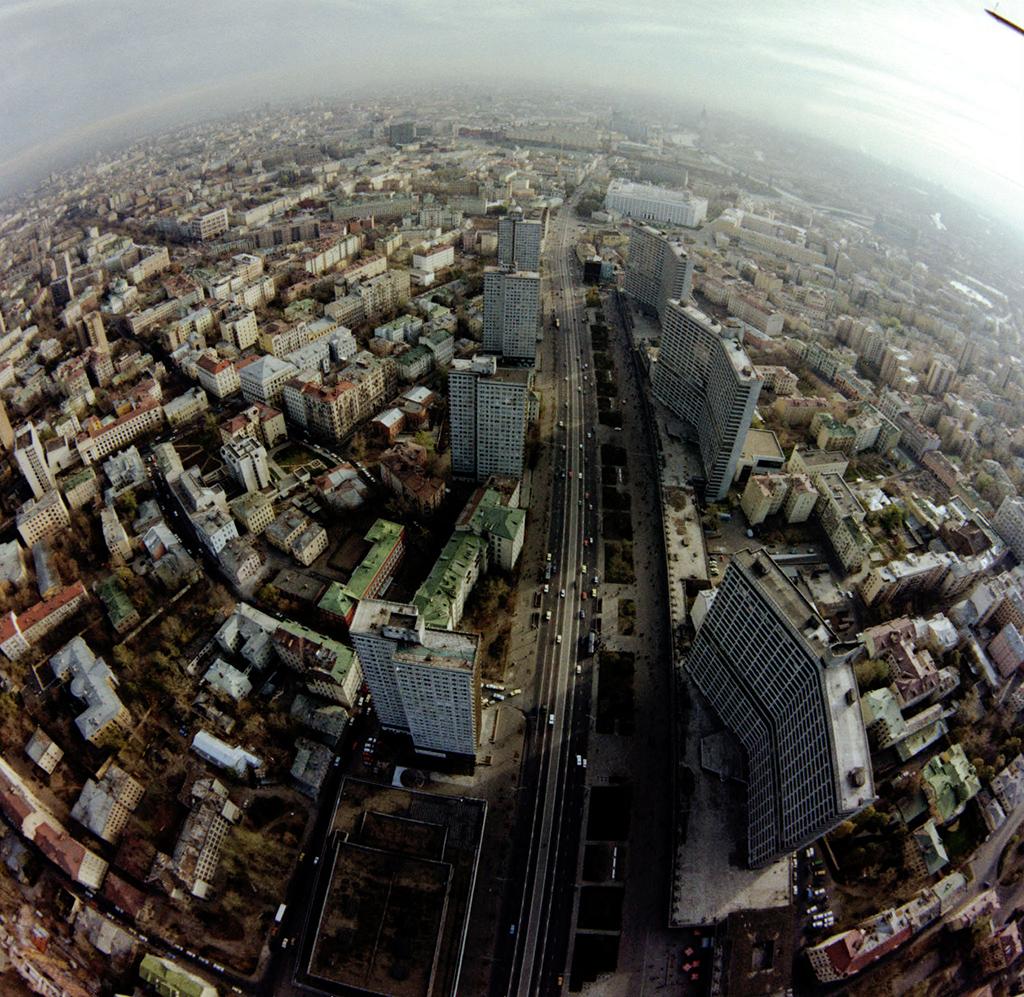 Вид сверху на проспект Калинина, 1988 год