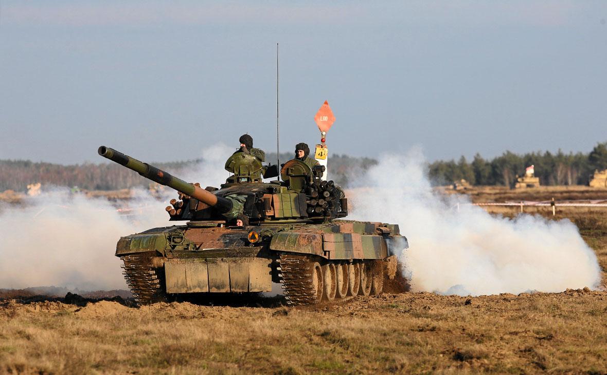 Польские солдаты участвуют в военных учениях НАТО
