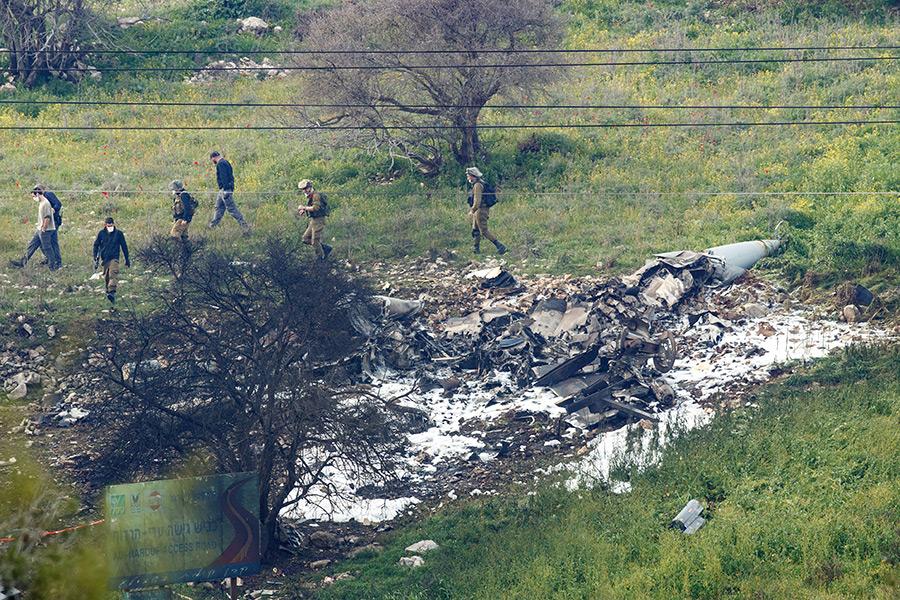 Самолет упал на Голанских высотах, контролируемых Израилем