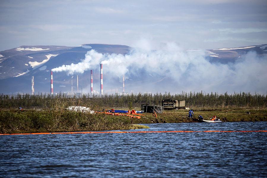 Ликвидация последствий разлива топлива на ТЭЦ-3