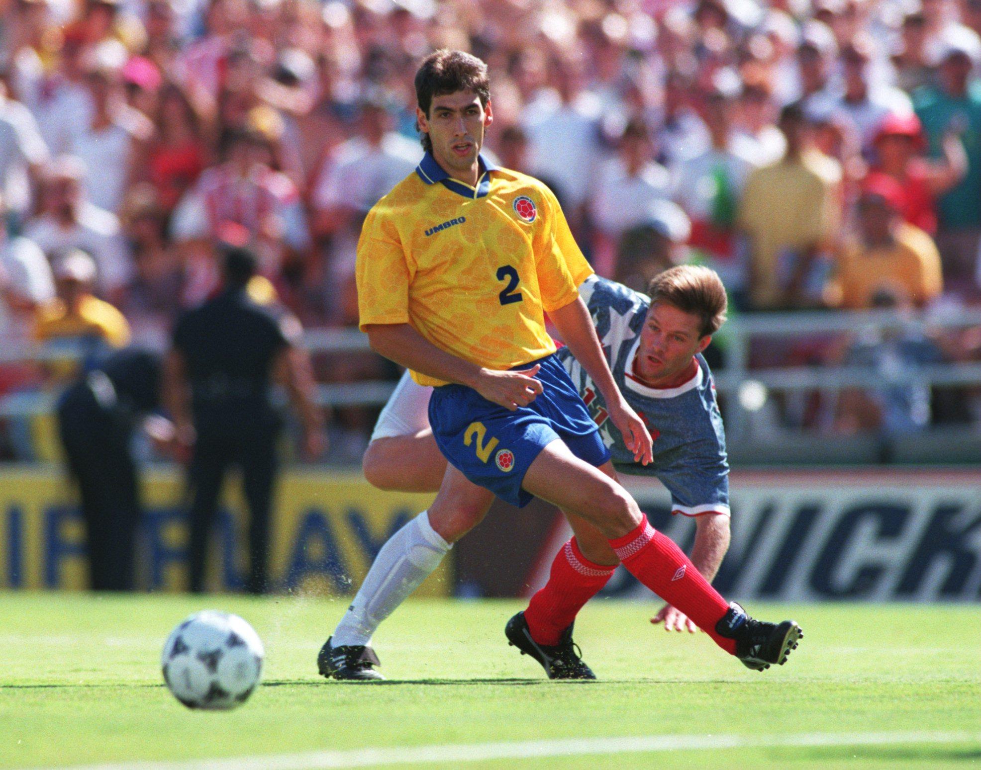 22 июня 1994 года. Андрес Эскобар в игре с командой США на чемпионате мира
