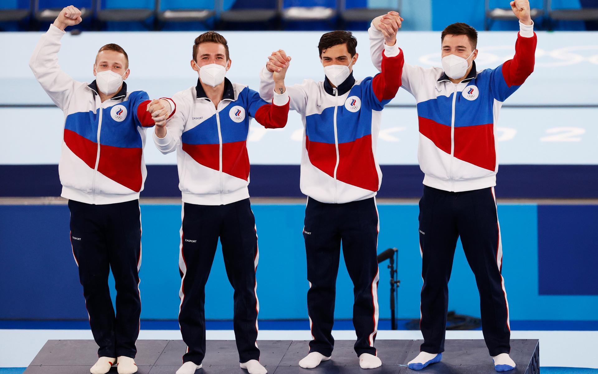 Фото: Мужская сборная России по спортивной гимнастике (HOW HWEE YOUNG/EPA)
