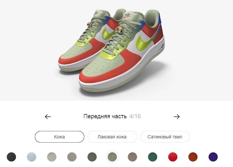 Кастом-сервис на сайте Nike позволяет создавать свой уникальный дизайн кроссовок
