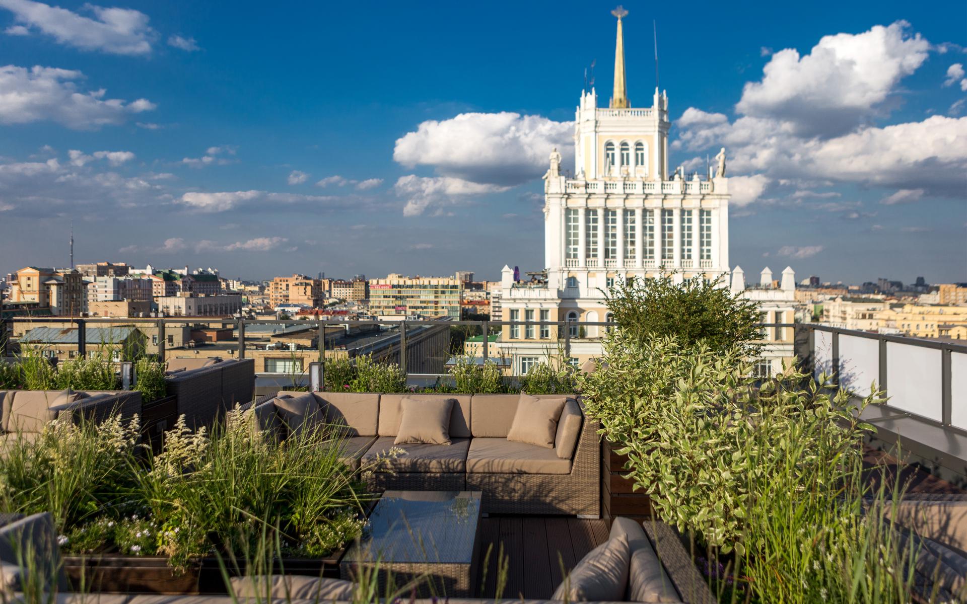 Вид с террасы квартала «Сады Пекина»