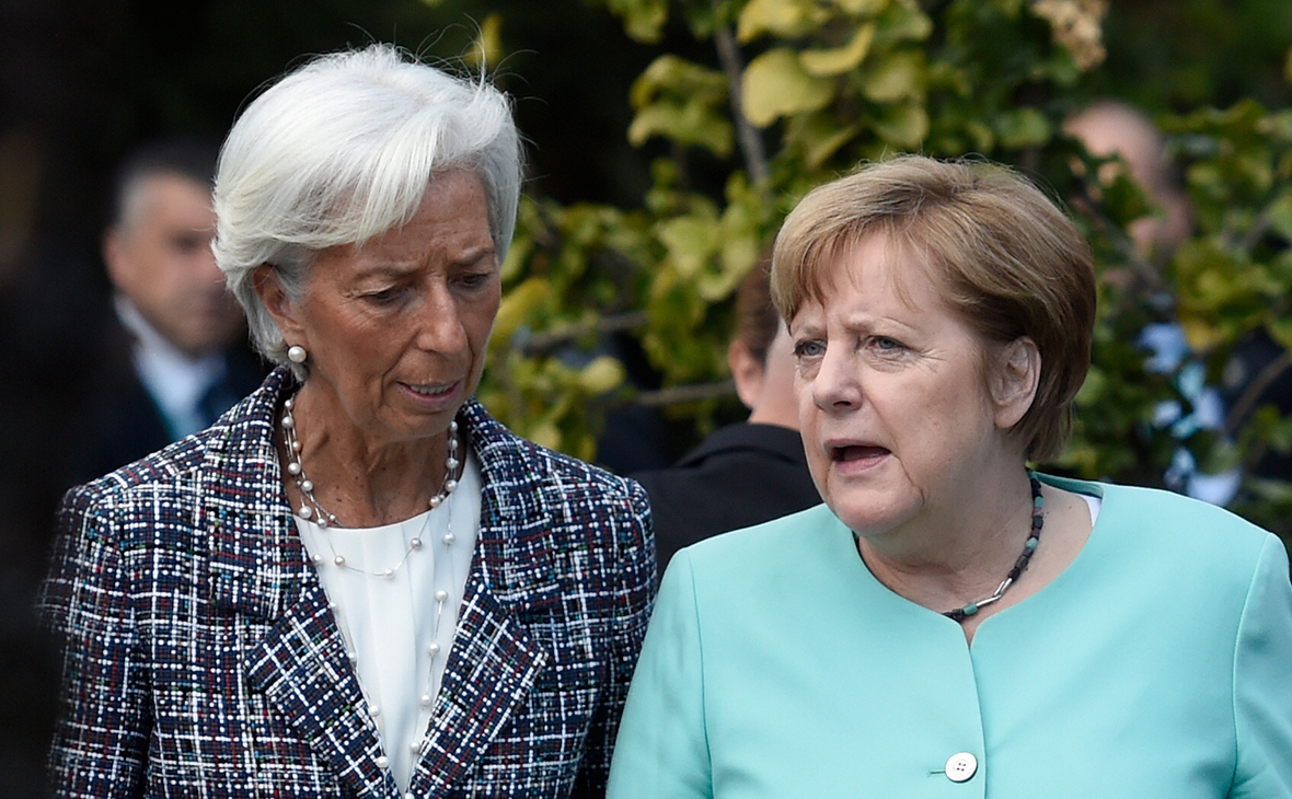 Кристин Лагард и Ангела Меркель