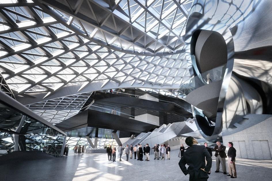 Прозрачный фасад позволяет гостям музея видеть панораму Шэньчжэня, невыходя изздания. В результате MOCAPE создает иллюзию тенистой веранды, открытой длясвета ивоздуха