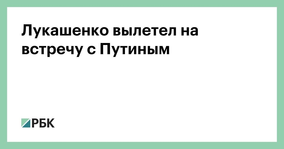 Лукашенко вылетел на встречу с Путиным :: Политика :: РБК